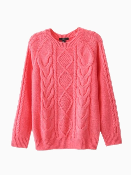 New Look Loose Knit Sweater In Pink | Choies