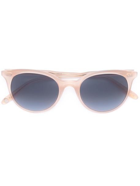 Garrett Leight Wilson Sun Shield 49 Pink Blush//Pink Halo Mirror Sunglasses