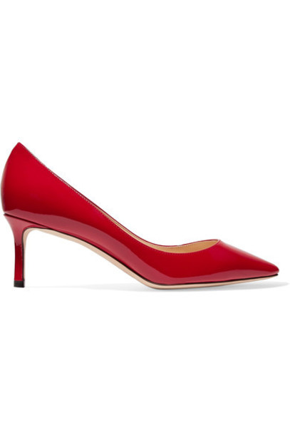 Jimmy Choo pumps leather red shoes