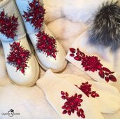 shoes,red,girly,girl,girly wishlist,ugg boots,pearl uggs,white,elegant,winter outfits,pretty,burgundy,vintage,embellished shoes,newcrystalwavebling,newcrystalwaveshoes,newcrystalwave