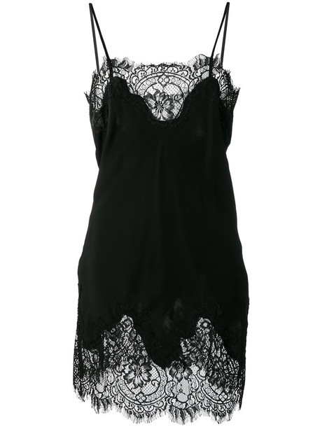 dress slip dress women lace cotton black silk