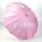 Chanel signature pink parasol umbrella | ebay