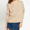 Loose fit off shoulder flecked sweater – sirenlondon