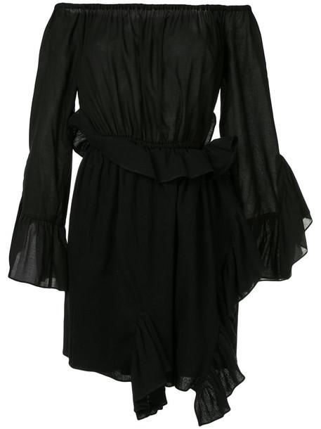 GOEN.J dress wrap dress women cotton black