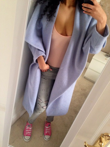 sweater long coat trench coat