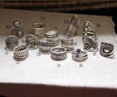 jewels,handmade,sterling silver rings,sterling silver rings set