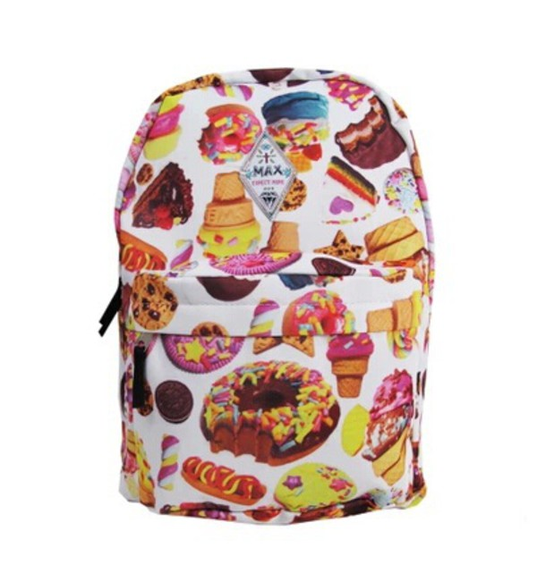 bag junk food food backpack hipster