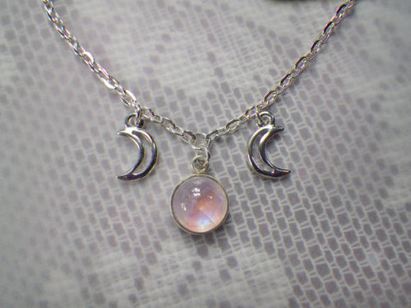 jewels necklace jewel moon