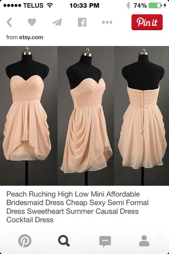 dress cream short strapless