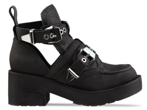 Shoes: jeffrey campbell, platform shoes, black platforms - Wheretoget