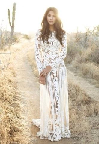 dress lace dress lace prom dress white white dress bohemian dress boho dress