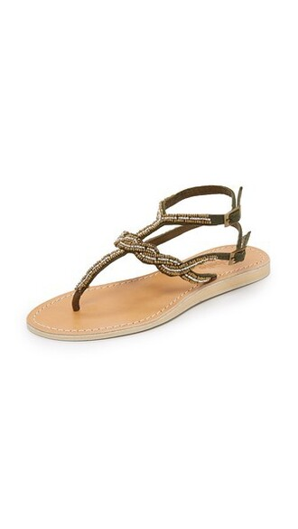 beaded sandals bronze shoes