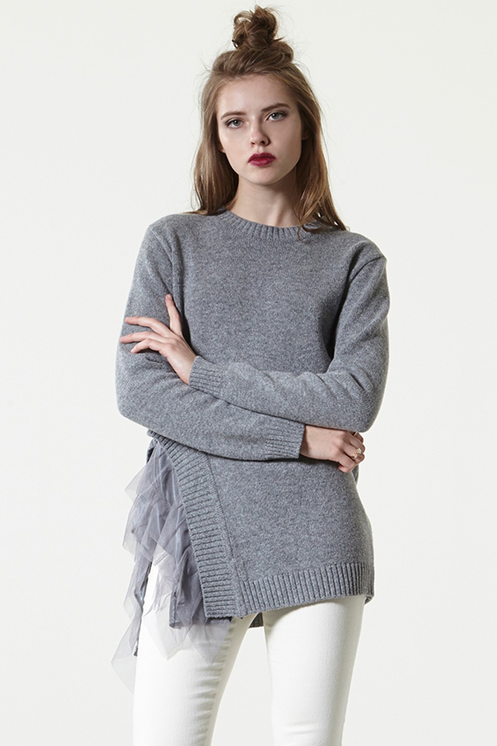 Cut Out Tulle Sweater - What's new Discover the latest fashion ...