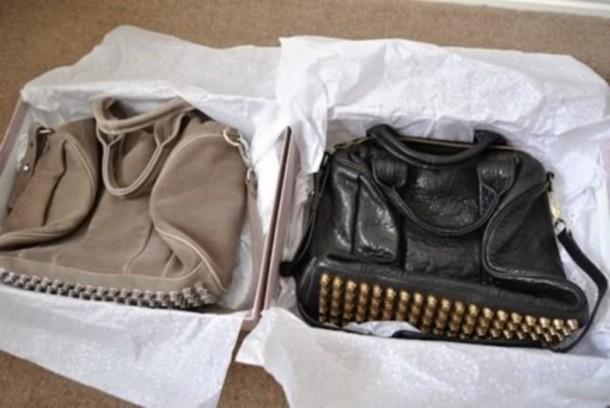 black bag bag bag rivet black