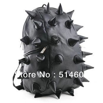 Free  / Drop shipping Hot Selling unisex Hedgehog Spike Punk Backpack Kid Spiky College Tablet School Bag Retail #9035-in Backpacks from Luggage & Bags on Aliexpress.com