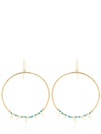 earrings turquoise gold green jewels