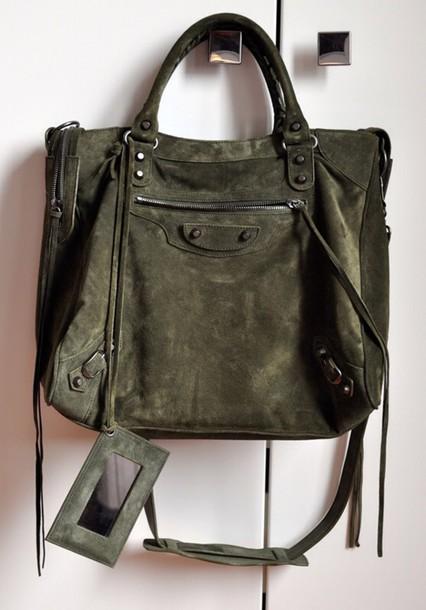 f9046a7ced1c bag suede purse olive green balenciaga purse suede suede bag designer bag  luxury green