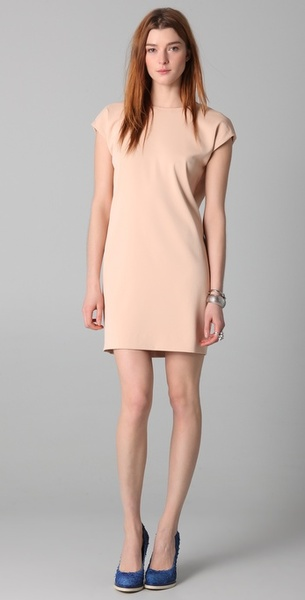 Adam Sheath Dress with Open Back in Pink (blush) | Lyst