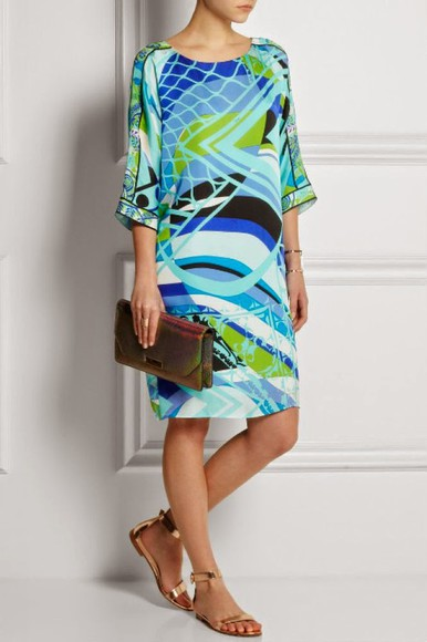 print dress new pucci montecarlo jersey dress