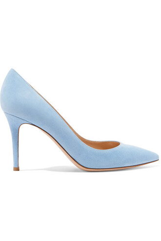 suede pumps pumps blue suede sky blue shoes