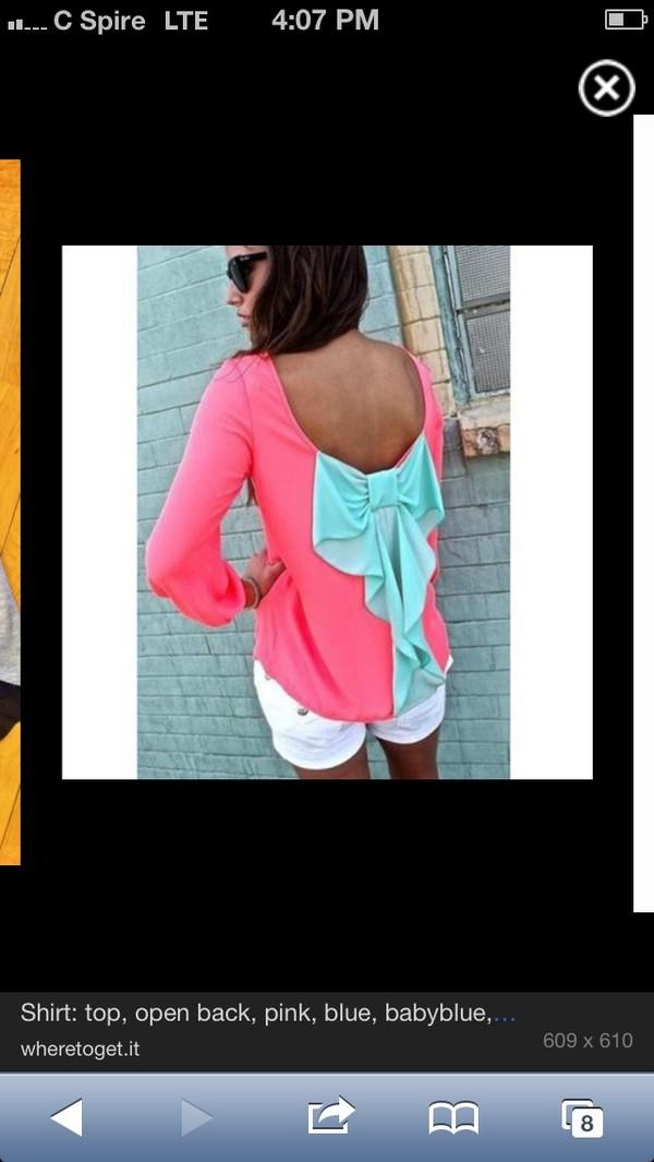 blouse bow back blouse