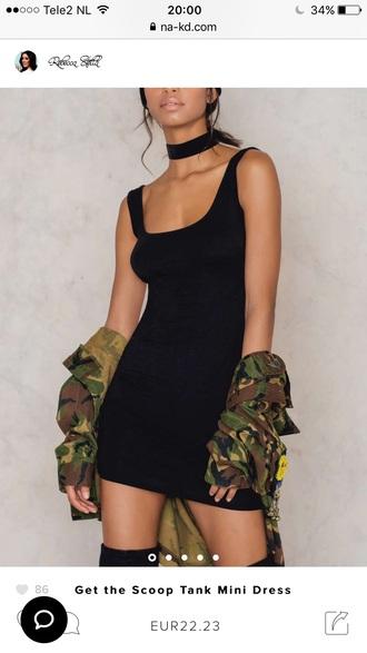 dress na-kd little black dress black dress sexy casual fashion style trendy