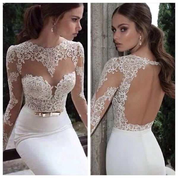 dress white lace wedding dress