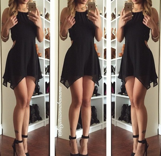 Dress: little black dress, black dress, clothes, short ...