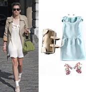 dress,short dress,blue,mini dress
