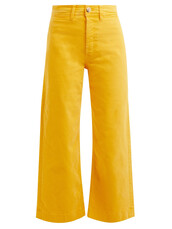 jeans,cropped jeans,cropped,high,yellow