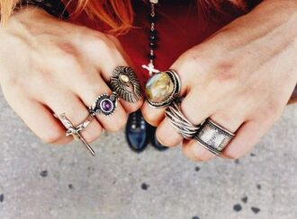 jewels ring le happy grunge style vintage fashion nice cute beauty jewelry stone