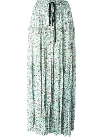 skirt maxi skirt maxi floral print green