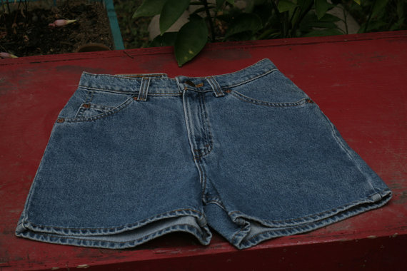 Levi strauss & co high waist jean shorts size 4 by morningthrift