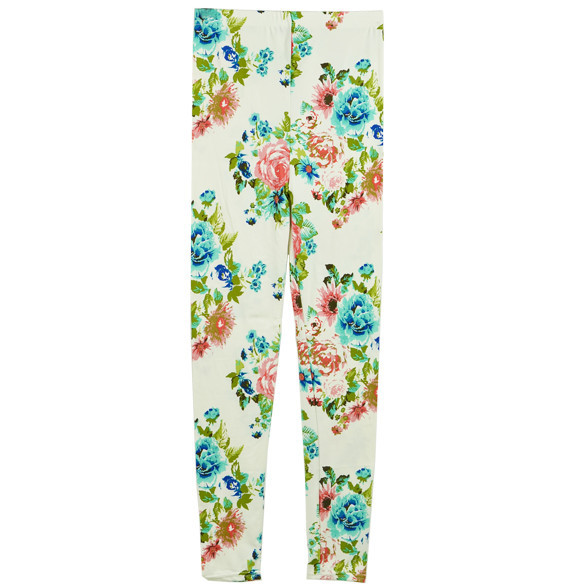 Floral zan leggings
