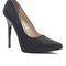 Snake pointy pump - black