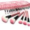 32 pcs pink eyeshadow eyebrow blush makeup brushes cosmetic set