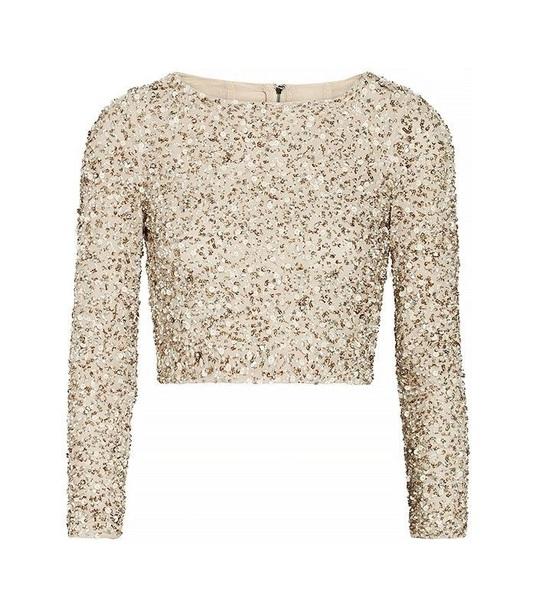 shirt sequins gold sequins top
