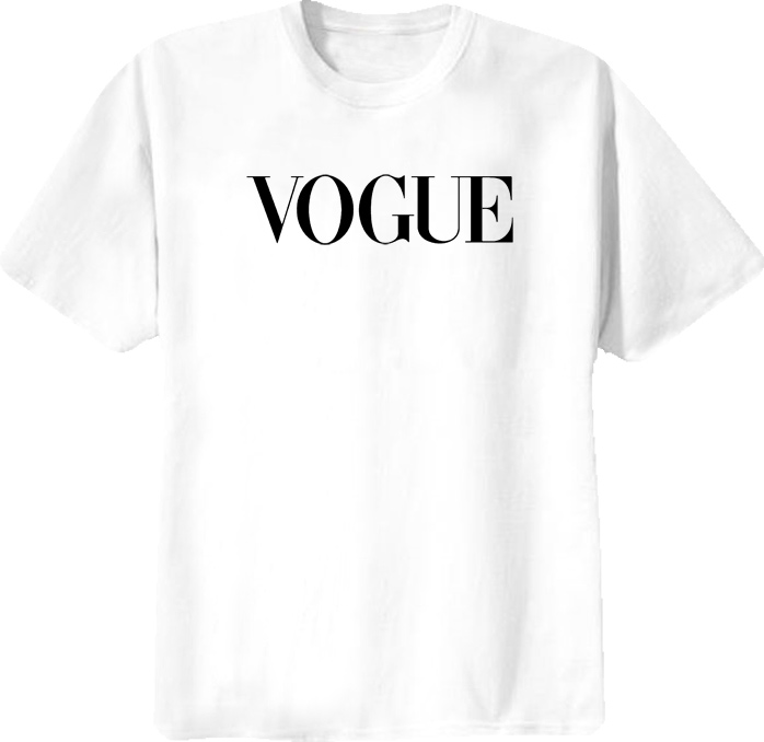 Vogue T Shirt - 32609 White - New - Shirt is 100 Pre Shrunk Cotton For Long Lasting Wear and Quality
