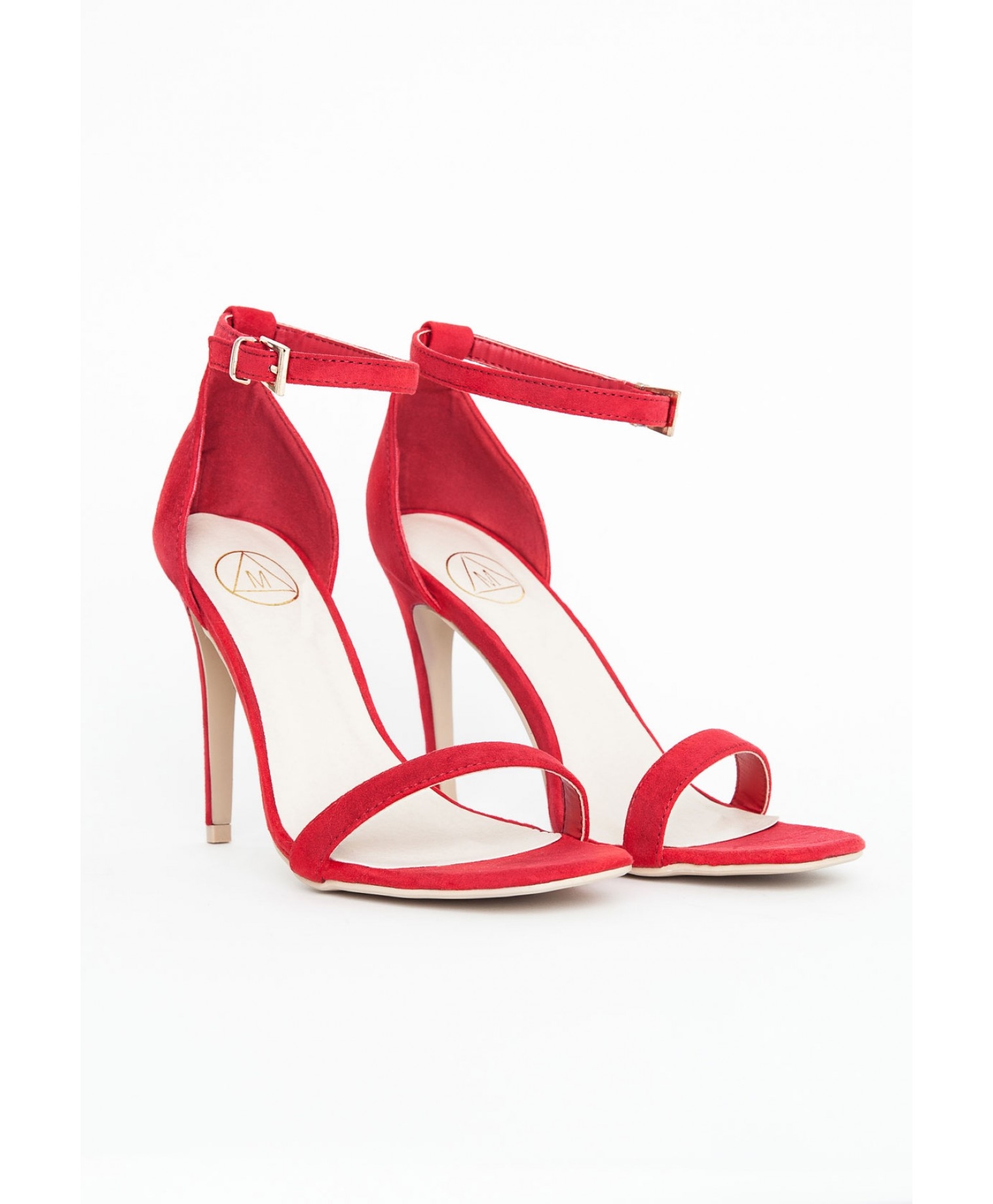 Red Strappy Sandals Heels - Is Heel