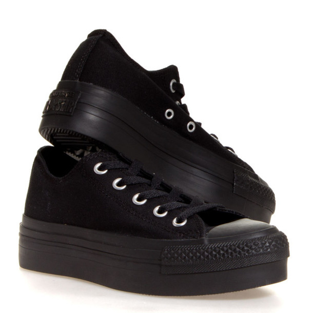 accbb1cac2c shoes converse black platform shoes sneakers chuck taylor all stars
