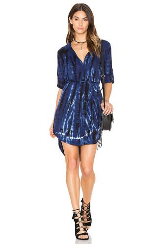 dress shirt dress tie dye blue