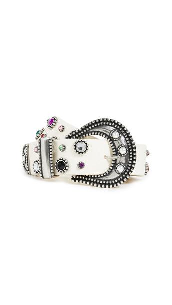 DODO BAR OR Donatella Belt in silver / white