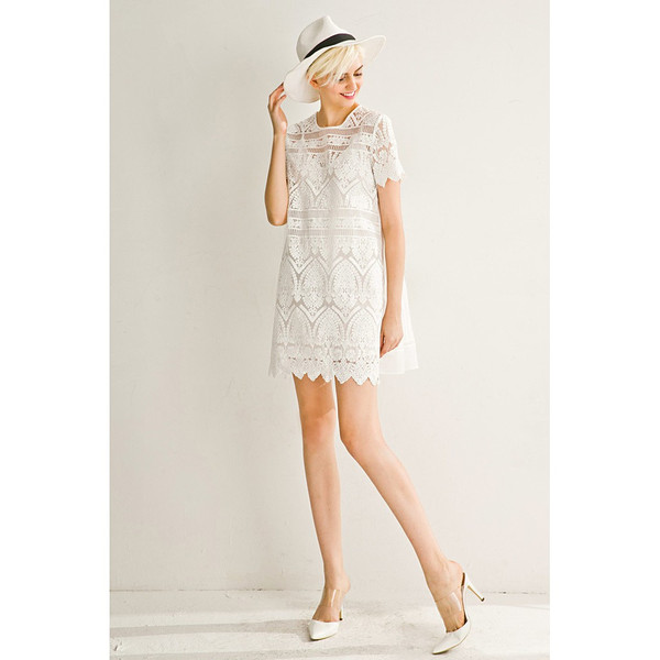 White A-Line Doll Dress