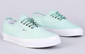 vans vans shoes vans off the wall mint mint shoes mint vans girly sneakers trainers style