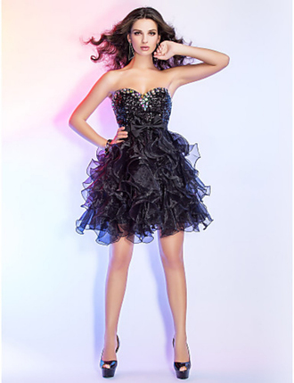 dress ball gowns organza cocktail dress sweetheart short ball gown