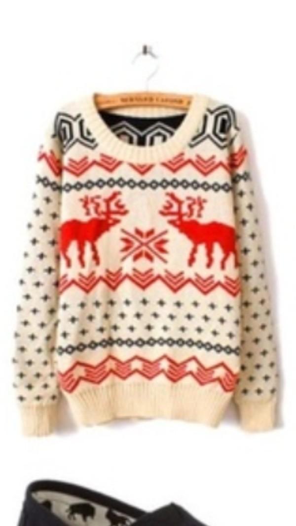 Tremendous Sweater Christmas Sweater Warm Cozy Christmas Ugly Deer Easy Diy Christmas Decorations Tissureus