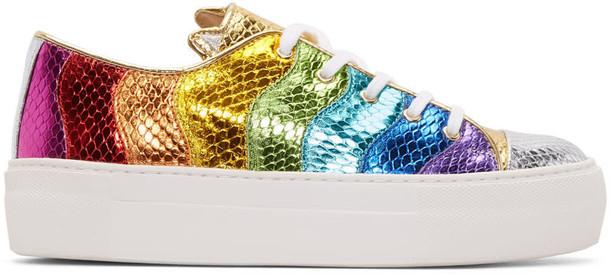 metallic sneakers multicolor shoes