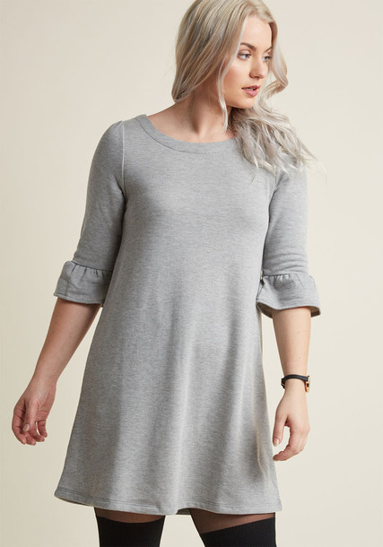 Modcloth dress shift dress grey