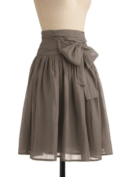 skirt brown skirt high waisted skirt