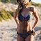 Geometric print cross straps bikini suit